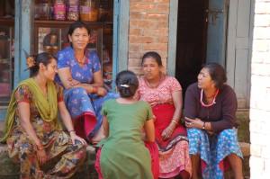 Straßenszene in Kathmandu.