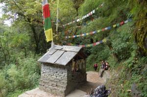 Pause auf dem Weg zum Annapurna Basecamp.