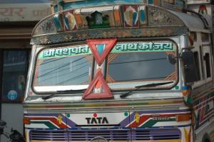 Mit dem Bus unterwegs in Nepal
