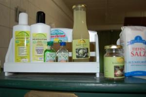 Auch Weißkohlshampoo, Bodylotion aus Weißkohl und Weißkohlschnaps gibt es im Kohlesseum zu kaufen.