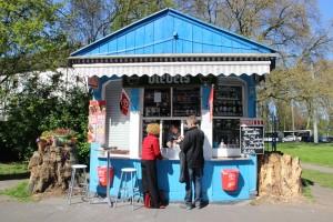 Blauer Kiosk in Duisburg