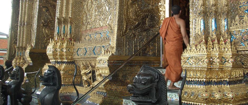 Mönch im Königspalast